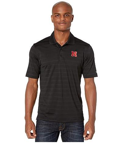 Champion College Nebraska Cornhuskers Textured Solid Polo (Black) Men