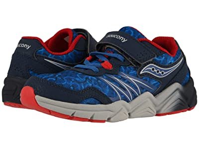 Saucony Kids Flash A/C (Little Kid) (Navy/Red) Boys Shoes