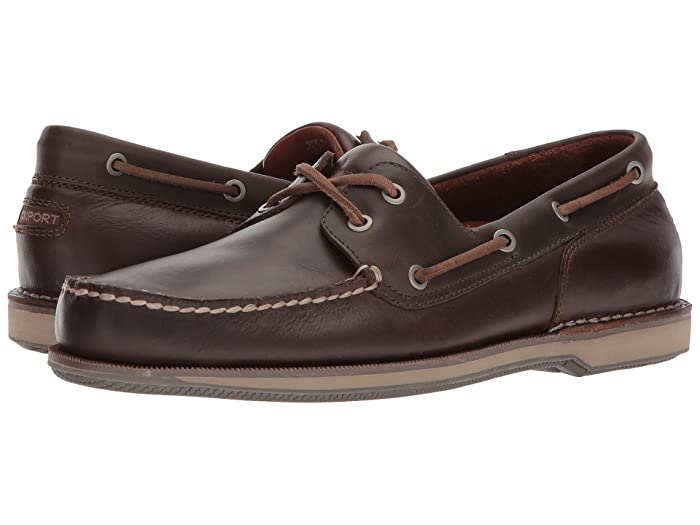 Rockport  Ports of Call Perth (Beeswax/Dark Brown Leather) Mens Lace up casual Shoes