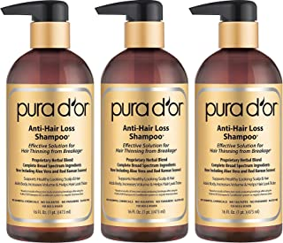 PURA DOR Anti Hair Loss tHCXjY Shampoo, Effective Solution for Hair Thinning & Breakage,