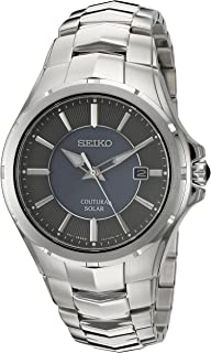 Seiko Men's 'Coutura' Quartz Stainless Steel Dress Watch, Color:Silver-Toned (Model: SNE411)