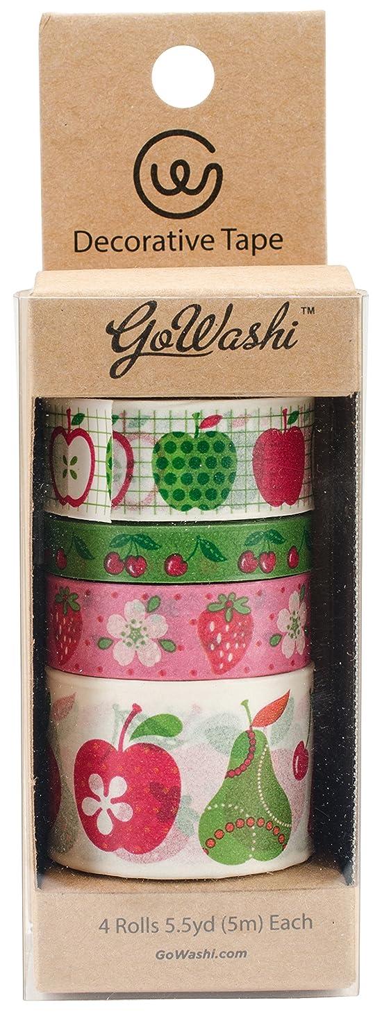 Allton TPX990002 Decorative Washi Tape 5m 4/Pkg Fruits