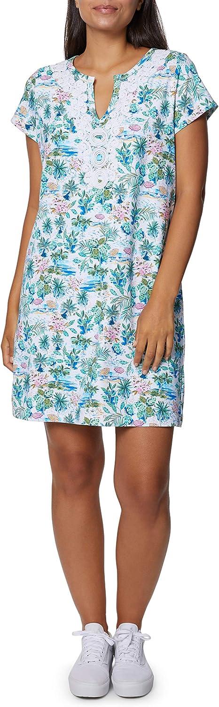 Caribbean Joe Women's V-Neck Embroidery Dress