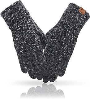 دستکش زمستانی زنانه MAJCF آب و هوای سرد ، دستکش صفحه لمسی گرم شنلیل ، دستکش حرارتی الاستیک کاف برای رانندگی در حال رانندگی