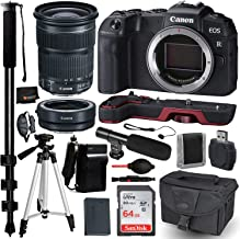 Canon EOS RP Mirrorless Digital Camera with EF 24-105mm f/3.5-5.6 STM Lens and Mount Adapter EF-EOS R Kit Accessory Bundle – Canon Extension Grip (Red) + SanDisk Ultra 64GB Memory Card + More