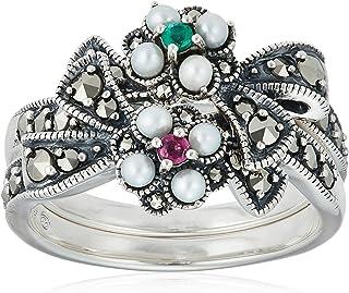 [ROKUZAN] ROKUZAN 银色 双花 戒指