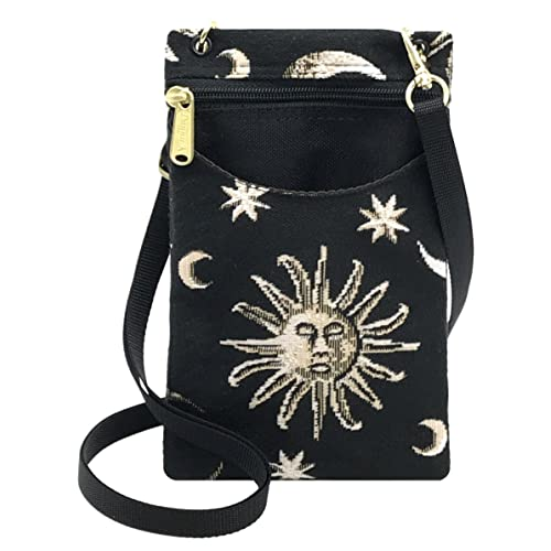 3d9a0002b1 Danny K Women's Tapestry Crossbody Cell Phone or Passport Purse, Handmade  in USA