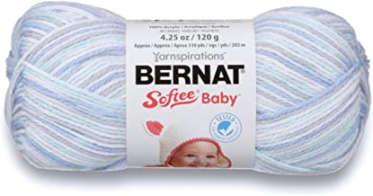 Bernat Softee Baby Yarn, Ombre, 4.25 oz, Gauge 3 Light, Blue Flannel