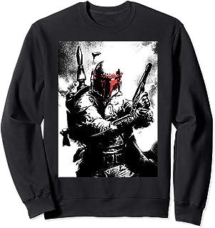 Star Wars Bobba Fett Negative Poster Sweatshirt