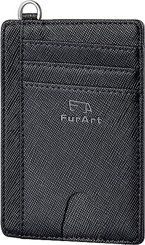 FurArt Portefeuille Minimaliste Fin, Porte-Cartes de Crédit avec Blocage Anti RFID, Les Femmes Hommes, Démontage Mani...