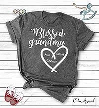 Blessed Grandma Shirt, Personalized Grandma Gift from Grand Kids, Custom Tee for Grandmother, Women Graphic Tops Tee