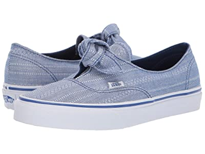 Vans Authentic Knotted ((Lace Chambray) True Blue/True White) Skate Shoes