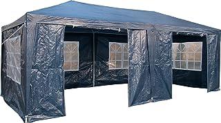 Airwave Pavillon, 3 x 6 m, blau, Inklusive 2 x einzigartig gestalteter Windstangen für besondere Stabilität