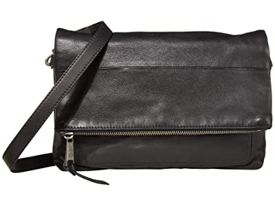 Lucky Brand Caro Flap (Black) Handbags