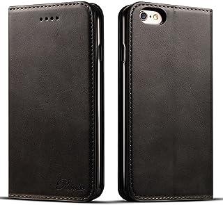 iPhone8Plus ケース 手帳型 iPhone 7 Plus ケース 手帳 - Rssviss アイフォン8プラスケース マグネット カード収納 Qi充電対応 横置き機能 PUレザー[iPhone 7 Plus/iPhone 8 Plus 5.5 inch 適応] W1 ブラック