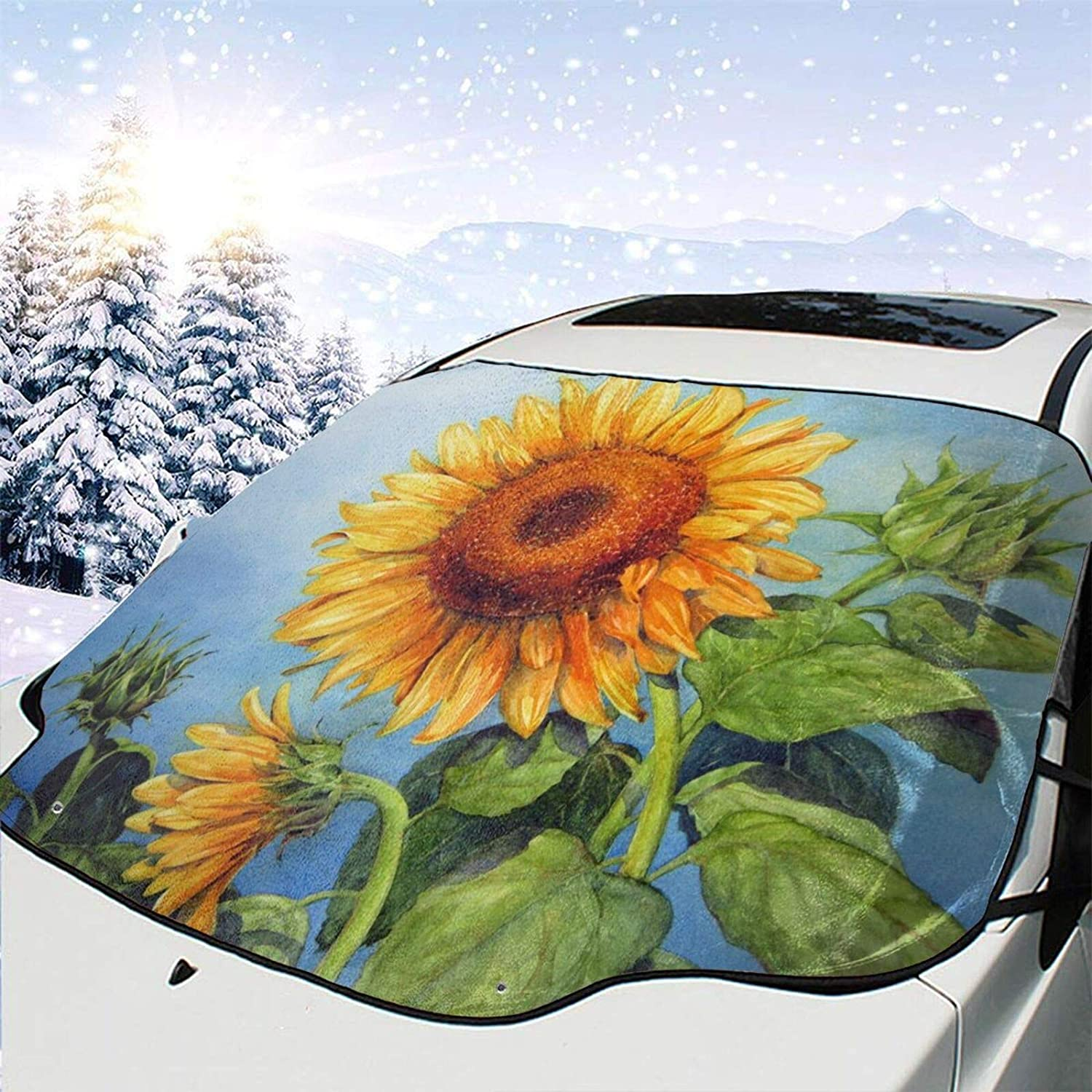 Large discharge All items in the store sale Alouply Car Windshield Snow Sno Sunflowers Cover Ice