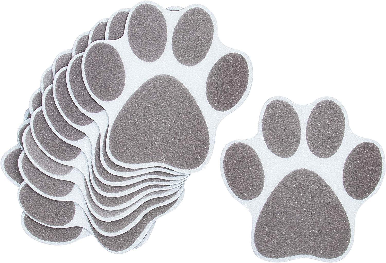 AUEAR 10 Pack Adhesive Paw Max 63% Product OFF Print Bath Slip Treads Non Bathtub S
