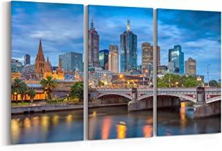 melbourne skyline canvas prints