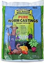 Worm Castings Organic Fertilizer, Wiggle Worm Soil Builder, 15-Pounds