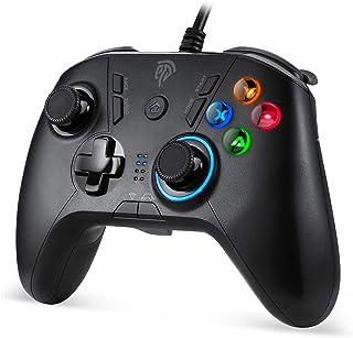 EasySMX SL-9111 有線ゲームパッド コントローラー TURBO連射・振動機能搭載 Windows/ PS3/ Android/TV Boxに対応可能(ブラック)