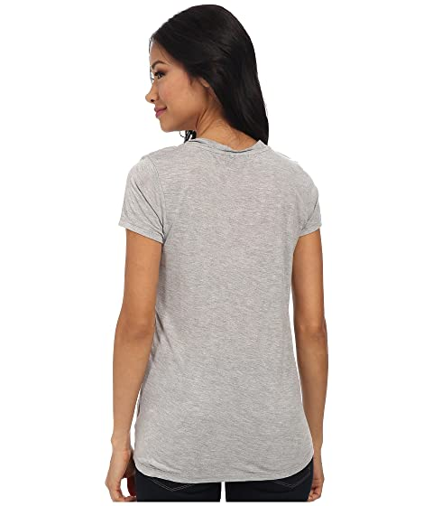 LAmade Short-Sleeve Low V-Neck Boyfriend Tee Heather Grey Sale Nicekicks For Nice Cheap Online Grey Outlet Store Online Get To Buy Cheap Price gEiHcimH