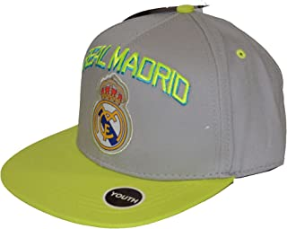 Real Madrid Fc Club Snapback Youth Kids Adjustable CAP Hat - Gray- Neon NEW Season