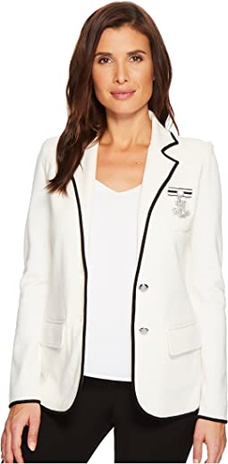 LAUREN Ralph Lauren Bullion-Embroidered Knit Blazer