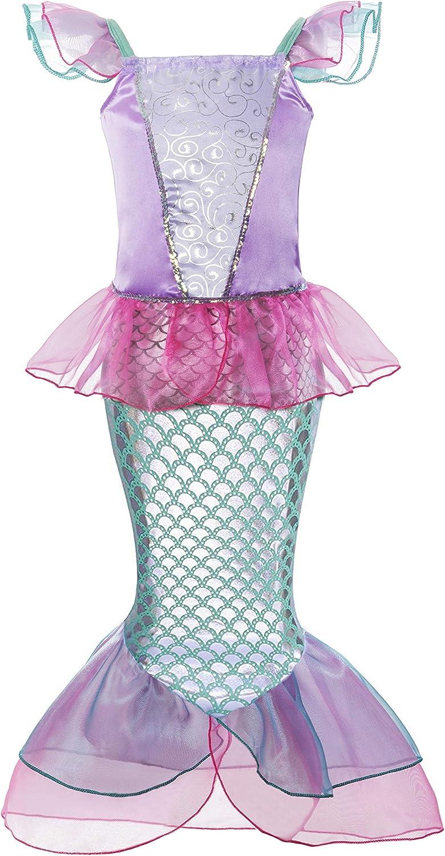 Padete Little Girl Sleeveless Mermaid Princess Costume Sequins Party Dress