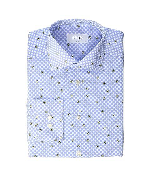 Eton Slim Fit Avocado Shirt