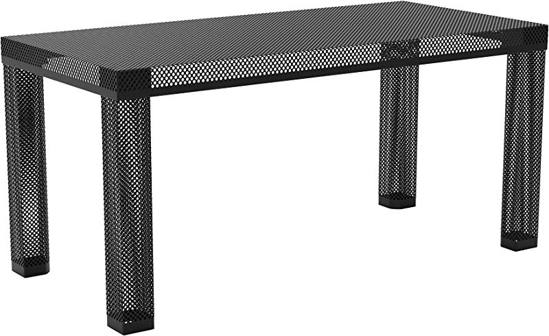 Novogratz Iconic Modern Metal Coffee Table Black