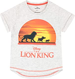 Disney Camiseta de Manga Corta para niñas The Lion King Rey León