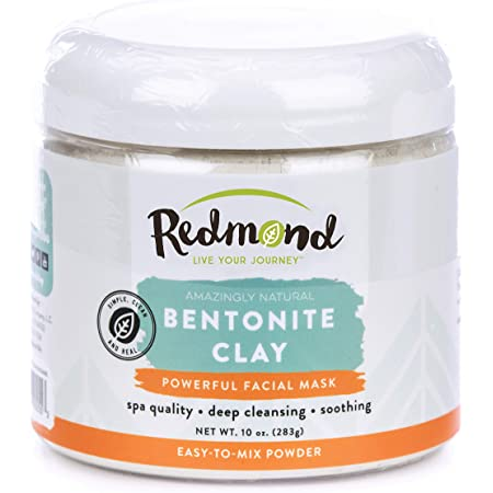 Redmond Clay - Bentonite Clay of 1000 Uses, Soothing Facial Mask, 10 Ounce (1 Pack)