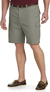 by DXL Big and Tall Continuous Comfort Twill Cargo Shorts