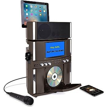 Akai KS800-BT Bluetooth Front Load CD&G Karaoke System, Black