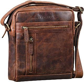 """STILORD Vince"""" Echtleder Umhängetasche Herren Kleine Vintage Schultertasche für 10,1 Zoll Tablets Herrentasche aus Echtem Leder"""