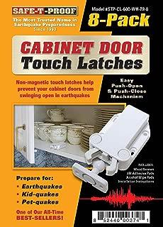 seismic resistant cabinet door latches