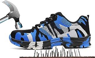 Axcer Mixte Adulte Chaussure de Sécurité Respirant Chaussure de Travail Embout de Protection en Acier Semelle de Protectio...