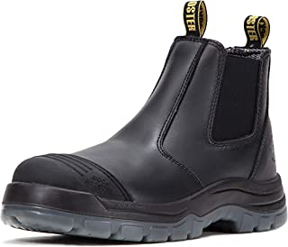 Work Boots for Men, 6 inch Steel Toe, Slip On Safety...
