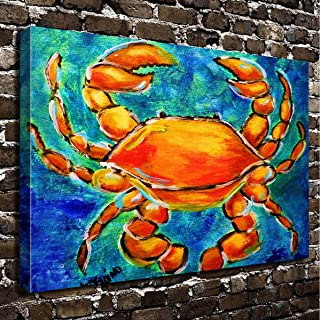 COLORSFORU Wall Art Painting Crab Prints On Canvas The Picture Landscape Pictures Oil For Home Modern Decoration Print Decor For Living Room