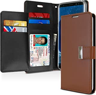Goospery Rich Wallet for Samsung Galaxy S9 Case (2018) Extra Card Slots Leather Flip Cover (Brown) S9-RIC-BRN