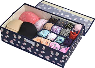Yellow Weaves™ Undergarments Organizer/Foldable Storage Box with Lid for Drawers, Color - Multi