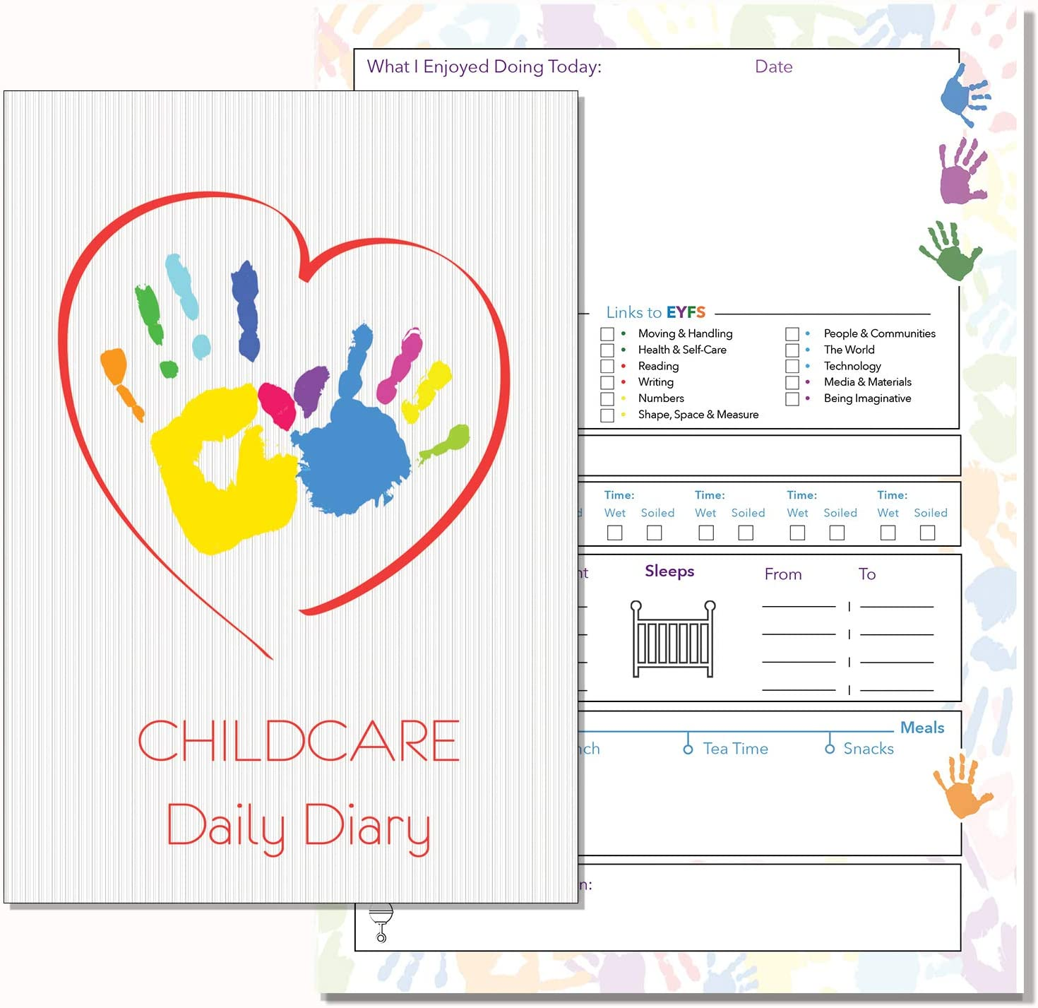 REF GREY 09 NURSERY DIARY,CHILDMINDERS DAILY DIARY EYFS RECORD KEEPING