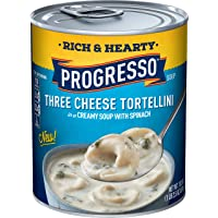 12-Pack Progresso Soup Rich & Hearty Three Cheese Tortellini