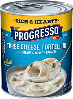 Progresso Rich & Hearty, Three Cheese Tortellini Soup, 18.5 Oz