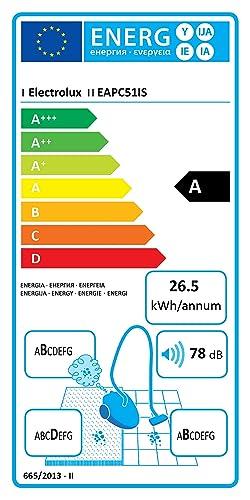 80 Decibel 600 W Hygiene Filter 10 1.1 Litri Electrolux EAPC51IS Aspirapolvere Senza Sacco Aeroperformer Cyclonic Blu