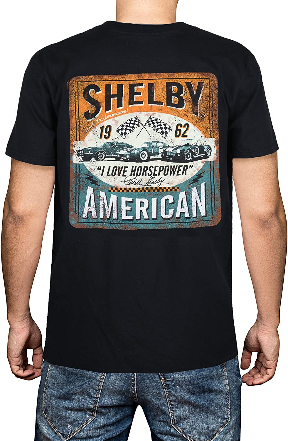 Shelby American I Love Horesepower 100% T-Shirt Latest item Spasm price Cotton P Tee