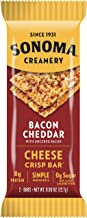 Sonoma Creamery Cheese Crisp Bars - Bacon Cheddar 8 Two-Bar Packs (Savory Snack Bars with 0g Sugar & 8g Protein Low Carb Gluten Free)
