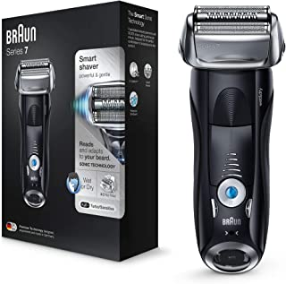 Braun Series 7 7840s Men's Electric Foil Shaver, Wet and Dry, Pop Up Precision Trimmer, Rechargeable and Cordless Razor, w...