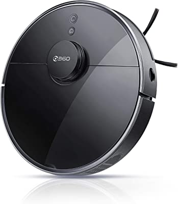 360 S7 Pro Robot Vacuum and Mop, LiDAR Mapping, 2650 Pa, Multi-Floor Mapping, Selective Room Cleaning, No-Mop Zones, Low Pile Carpet, Works with Alexa