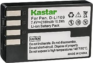 Kastar D-Li109 Battery Replacement for Pentax D-Li109 DLI109 and Pentax K-R K-30 K-50 K-70 K-500 K-S1 K-S2 KP Cameras